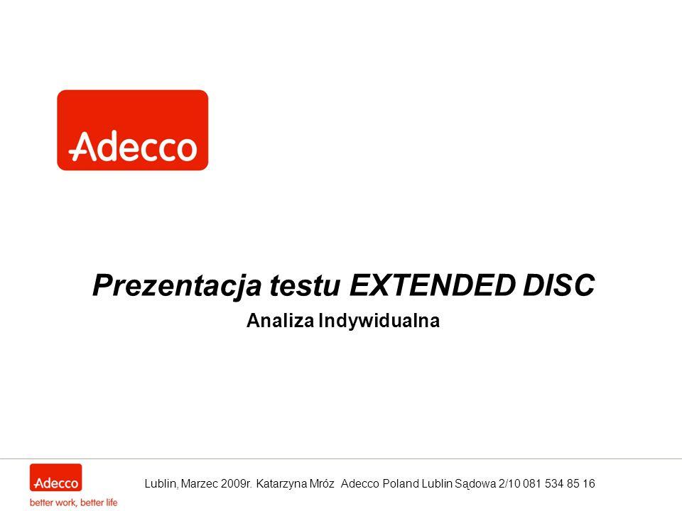 Prezentacja testu EXTENDED DISC Analiza Indywidualna
