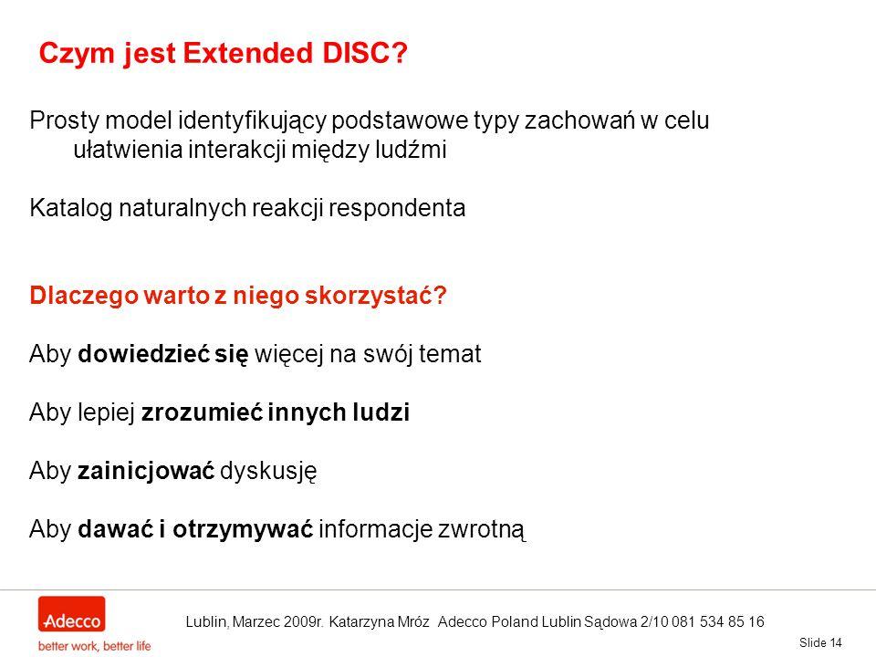 Czym jest Extended DISC