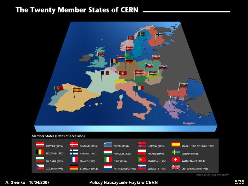 A. Siemko 16/04/2007 Polscy Nauczyciele Fizyki w CERN