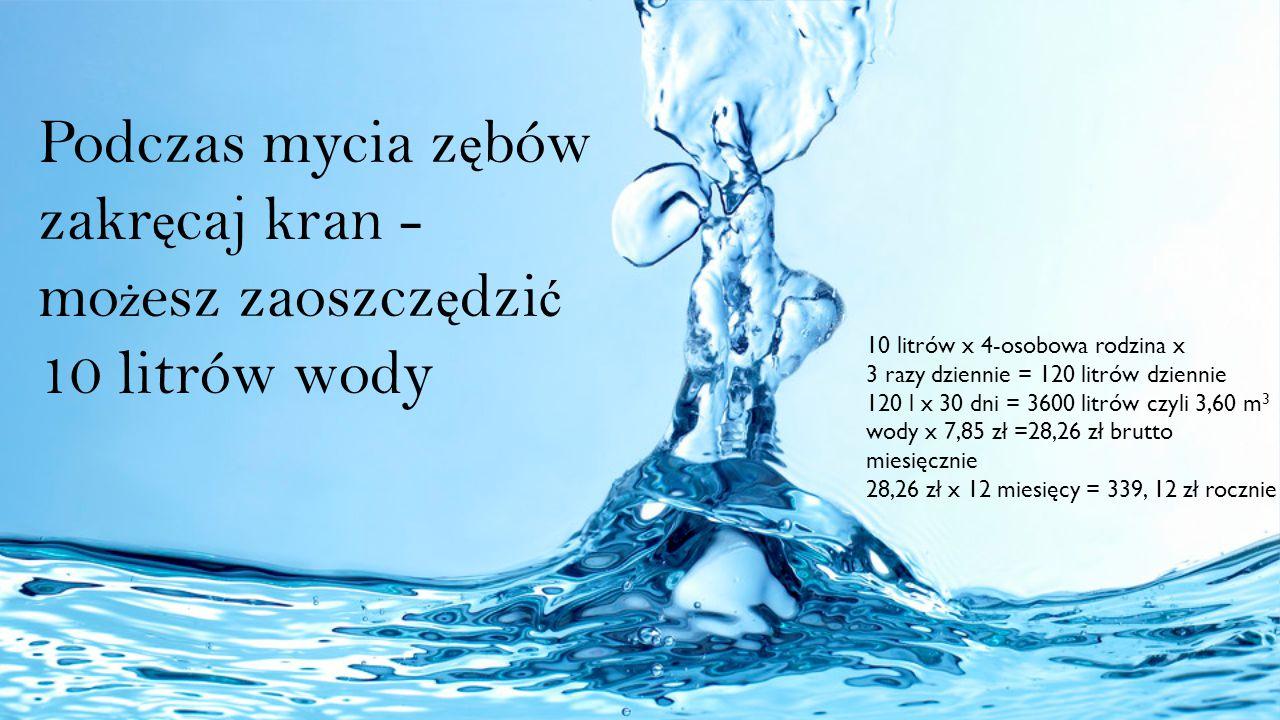 Podczas mycia zębów zakręcaj kran - możesz zaoszczędzić 10 litrów wody