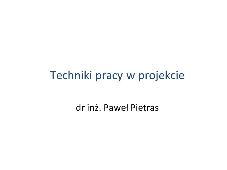 Techniki pracy w projekcie