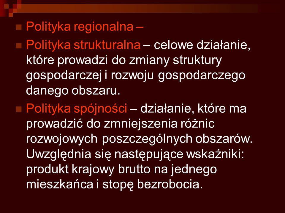 Polityka regionalna –