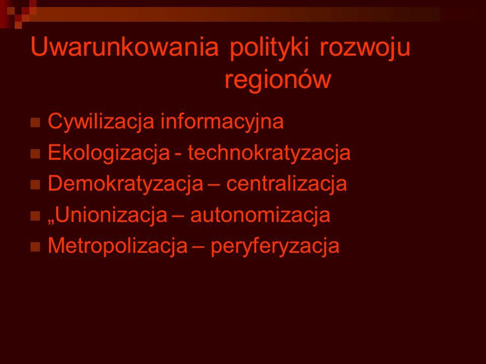 Uwarunkowania polityki rozwoju regionów