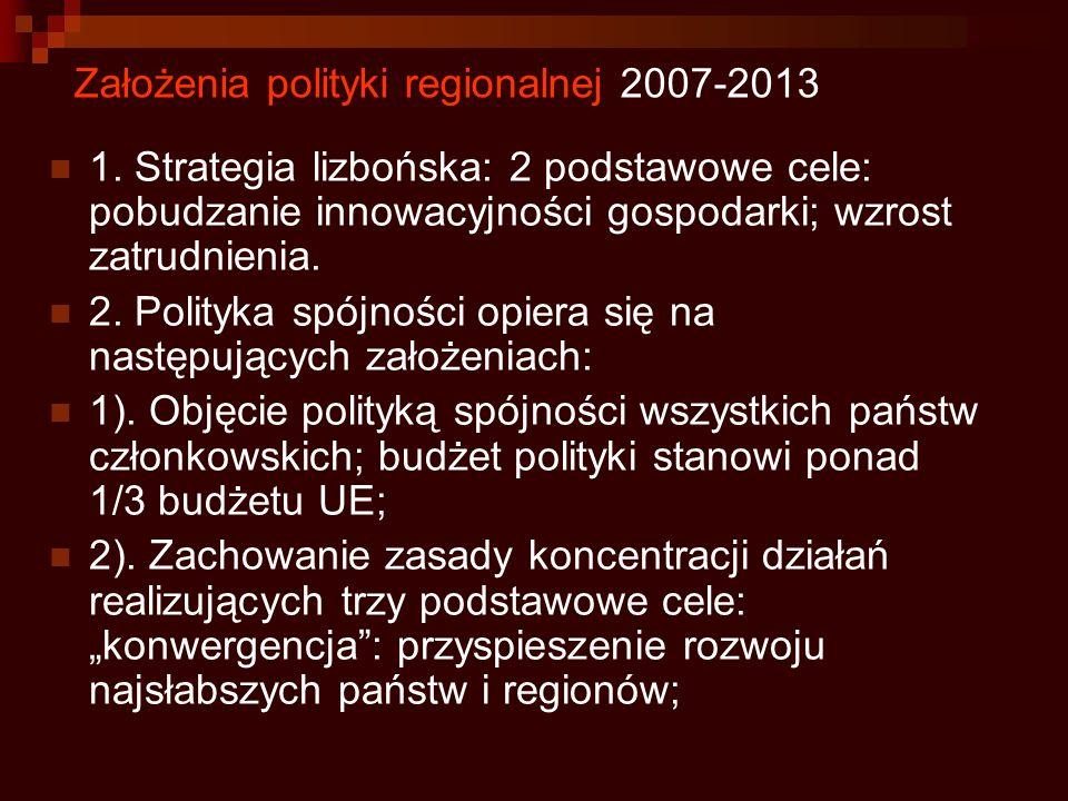 Założenia polityki regionalnej 2007-2013