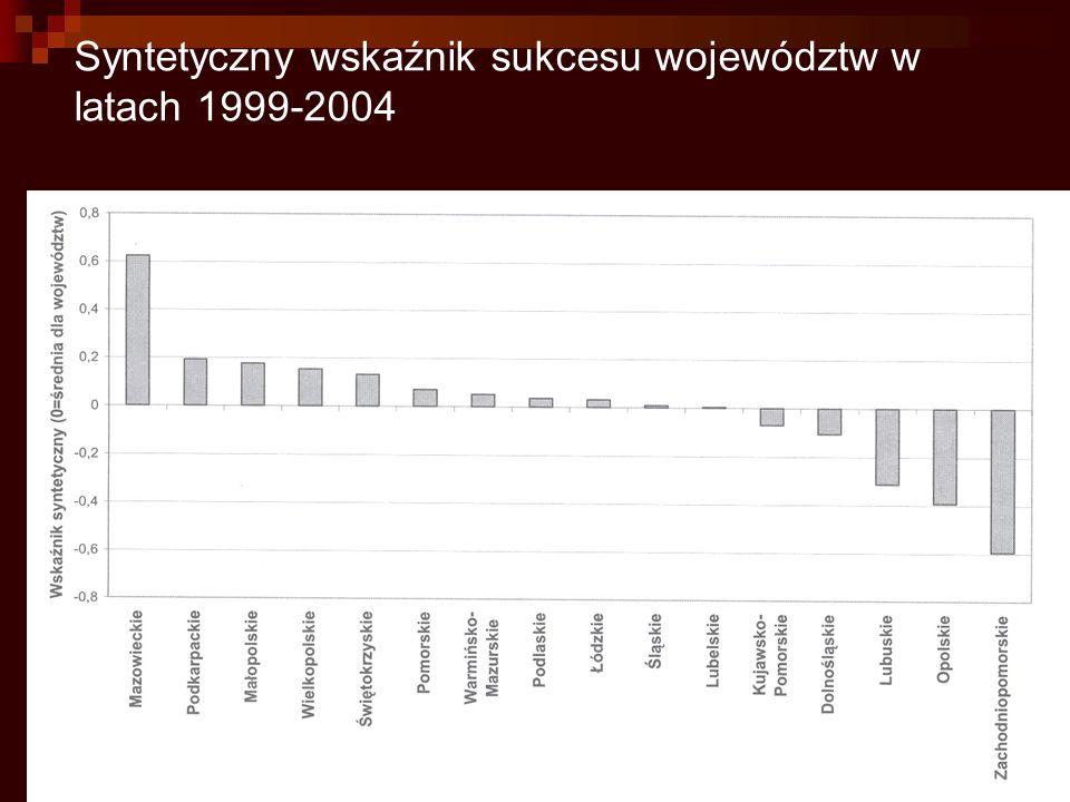 Syntetyczny wskaźnik sukcesu województw w latach 1999-2004