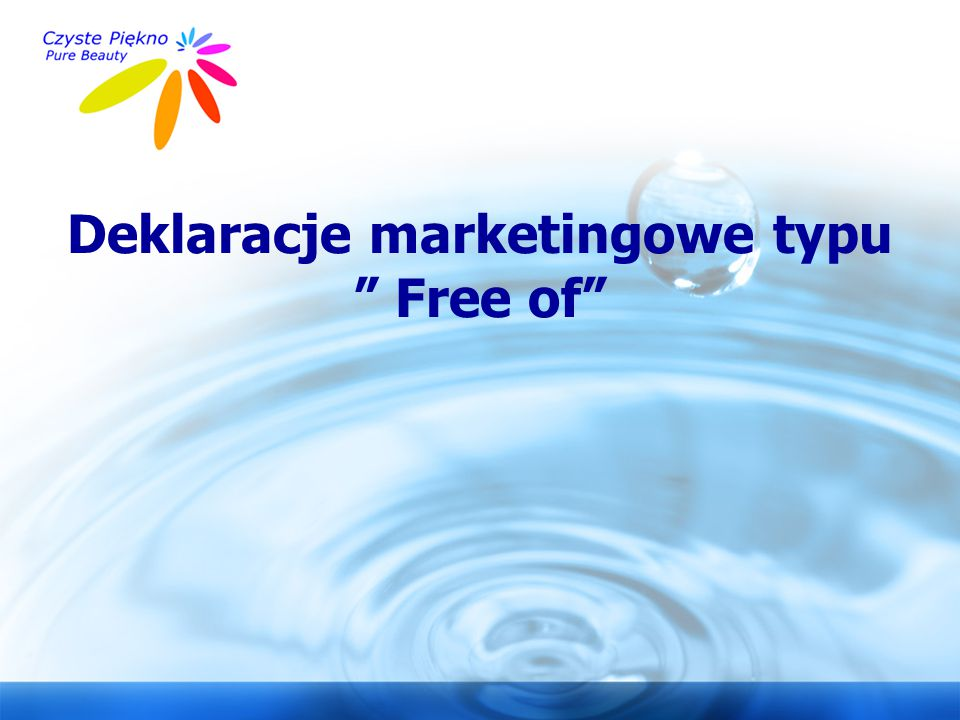 Deklaracje marketingowe typu Free of