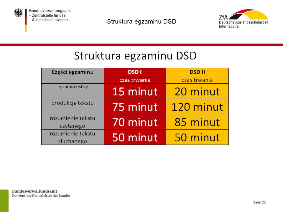 Struktura egzaminu DSD