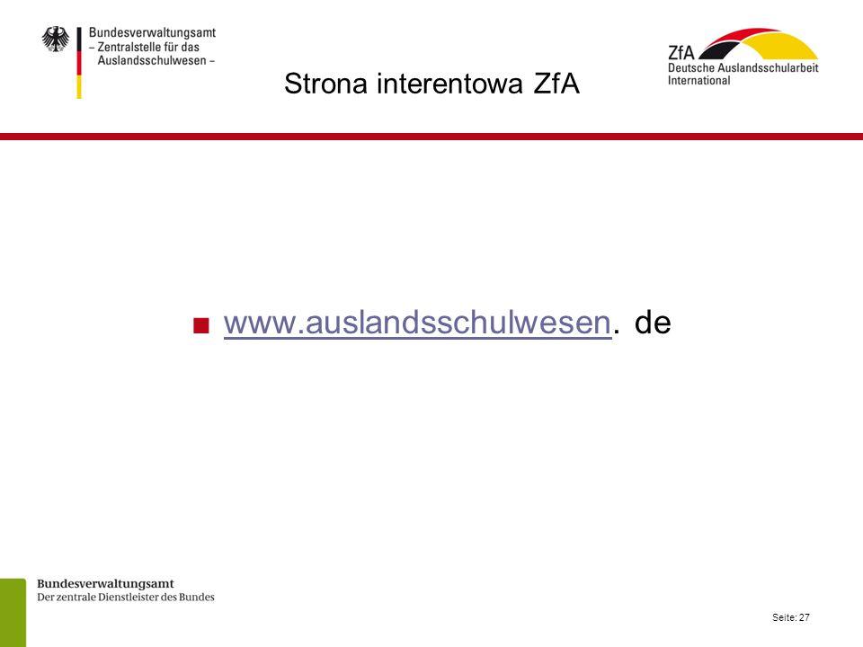 Strona interentowa ZfA