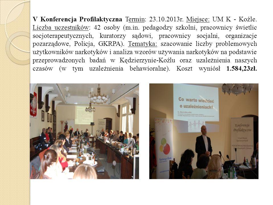 V Konferencja Profilaktyczna Termin: 23. 10. 2013r