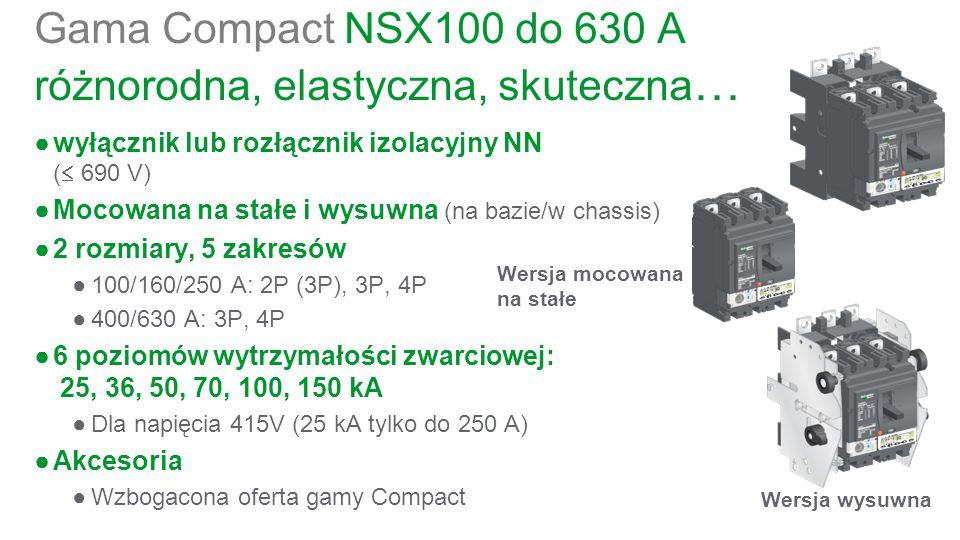 Gama Compact NSX100 do 630 A różnorodna, elastyczna, skuteczna…