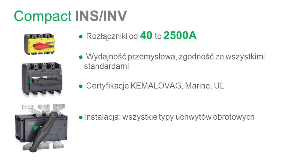 Compact INS/INV Rozłączniki od 40 to 2500A