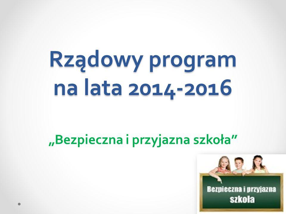 Rządowy program na lata 2014-2016