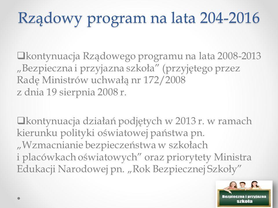 Rządowy program na lata 204-2016