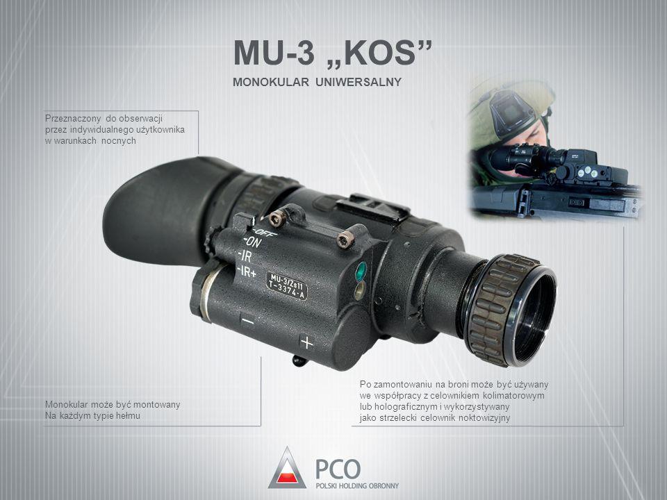 """MU-3 """"KOS MONOKULAR UNIWERSALNY Przeznaczony do obserwacji"""