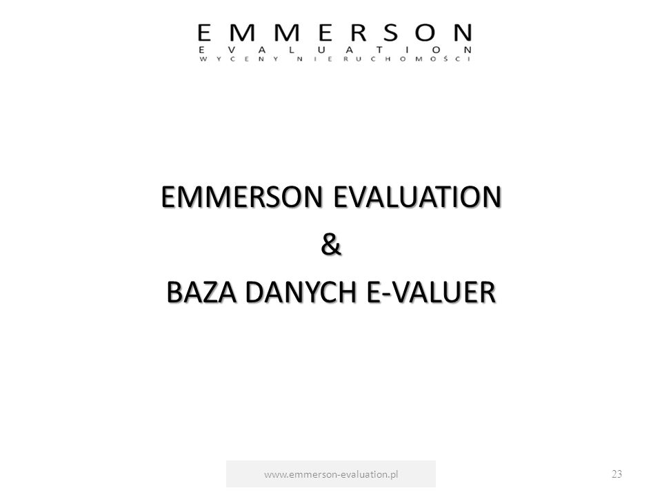 EMMERSON EVALUATION & BAZA DANYCH E-VALUER