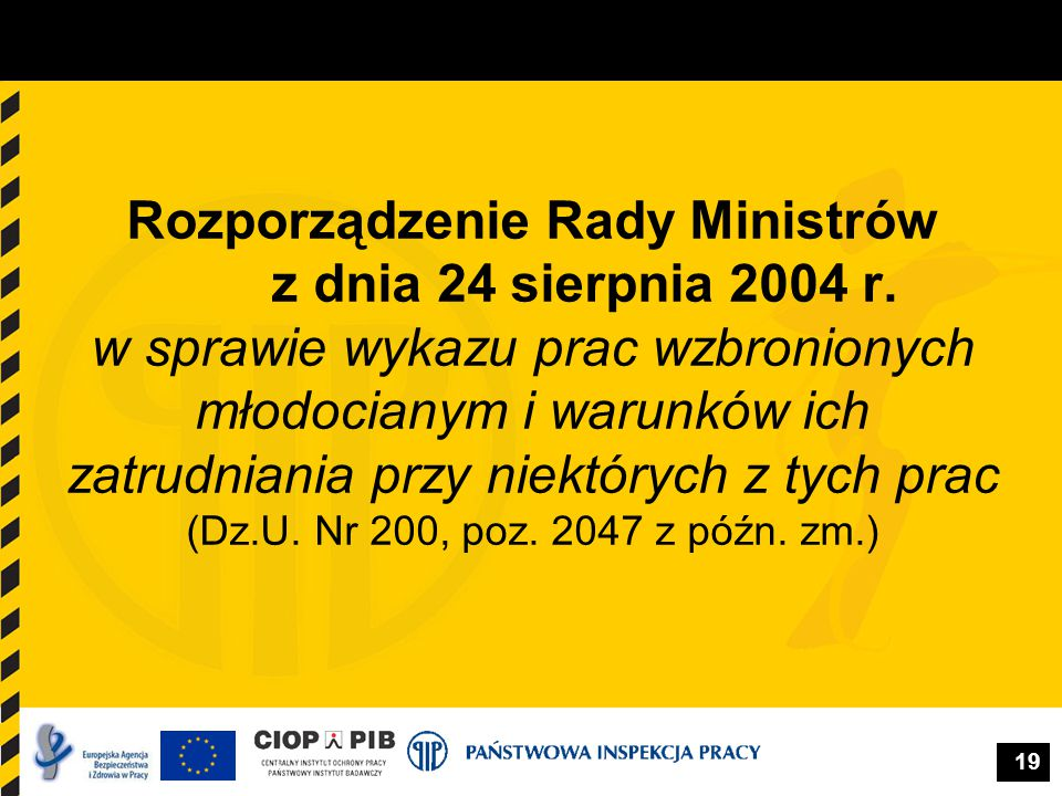 Rozporządzenie Rady Ministrów z dnia 24 sierpnia 2004 r