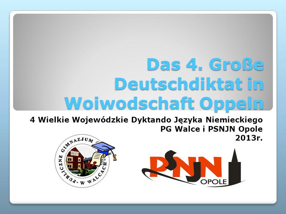 Das 4. Große Deutschdiktat in Woiwodschaft Oppeln