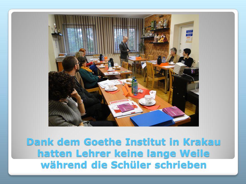 Dank dem Goethe Institut in Krakau hatten Lehrer keine lange Weile während die Schüler schrieben