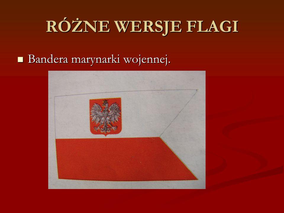 RÓŻNE WERSJE FLAGI Bandera marynarki wojennej.