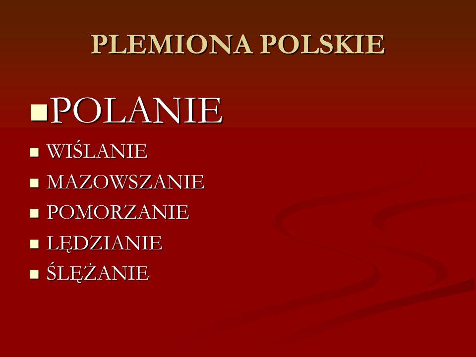 POLANIE PLEMIONA POLSKIE WIŚLANIE MAZOWSZANIE POMORZANIE LĘDZIANIE