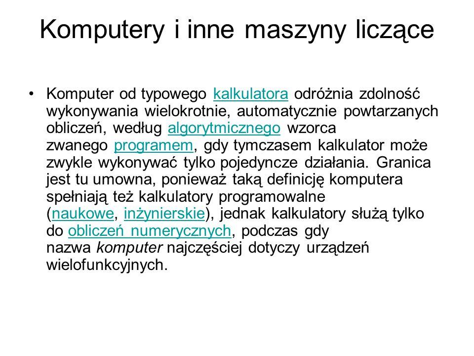 Komputery i inne maszyny liczące