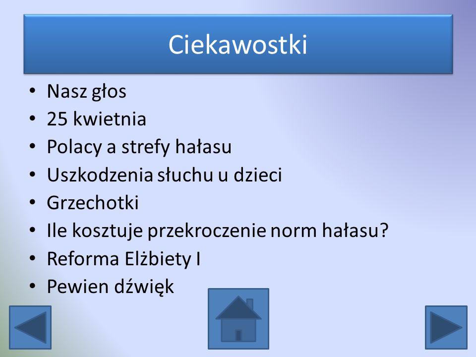 Ciekawostki Nasz głos 25 kwietnia Polacy a strefy hałasu