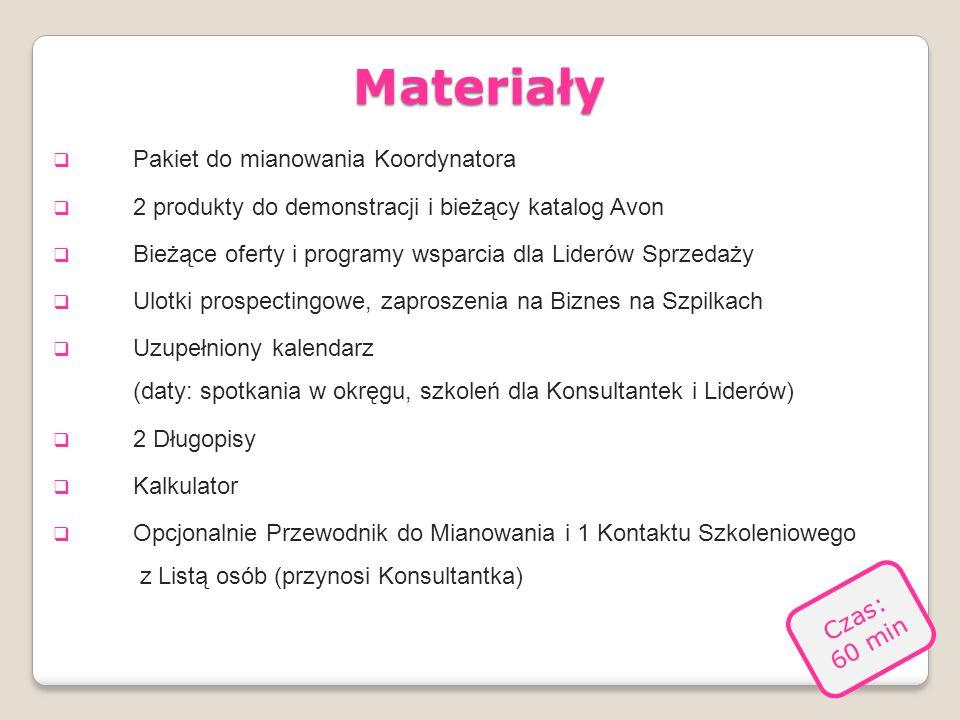 Materiały Pakiet do mianowania Koordynatora