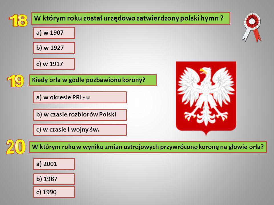 W którym roku został urzędowo zatwierdzony polski hymn