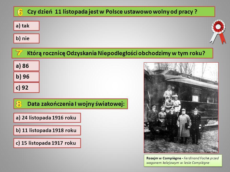 Czy dzień 11 listopada jest w Polsce ustawowo wolny od pracy