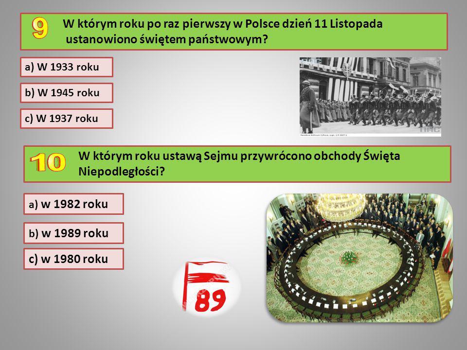 W którym roku po raz pierwszy w Polsce dzień 11 Listopada