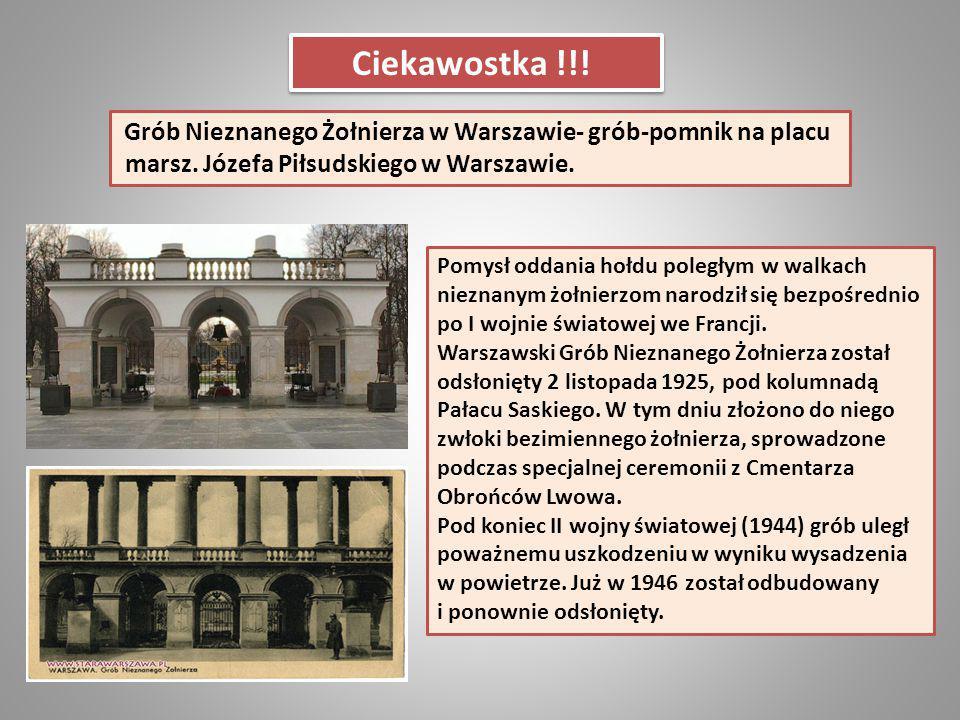 Ciekawostka !!! marsz. Józefa Piłsudskiego w Warszawie.