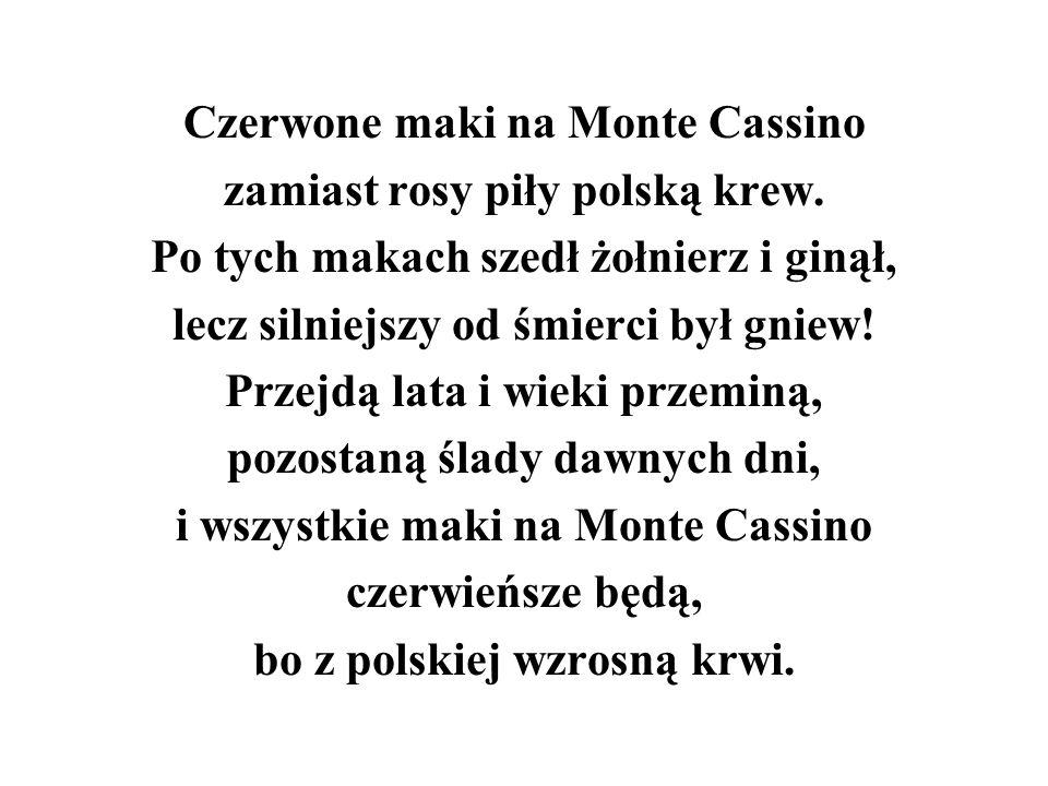 Czerwone maki na Monte Cassino zamiast rosy piły polską krew.