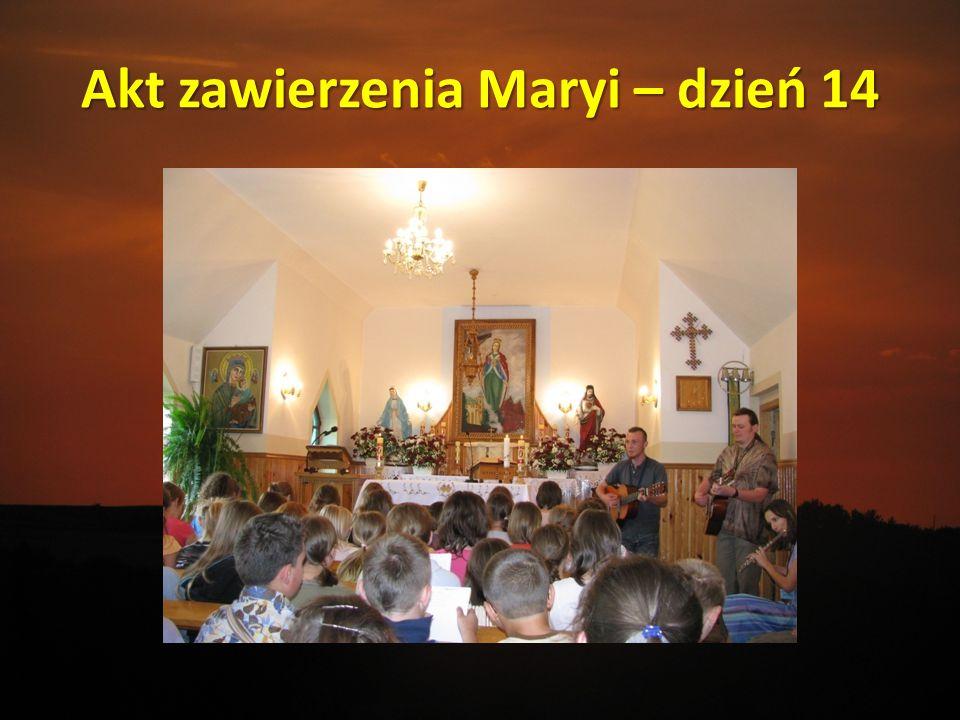 Akt zawierzenia Maryi – dzień 14
