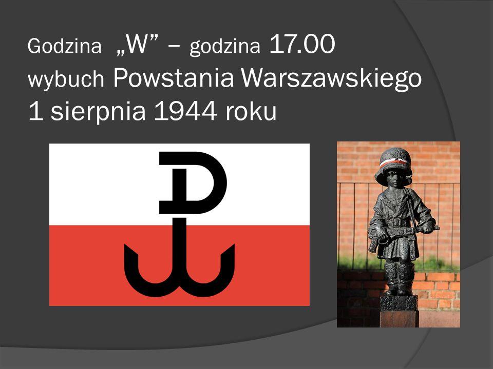 """Godzina """"W – godzina 17.00 wybuch Powstania Warszawskiego 1 sierpnia 1944 roku"""