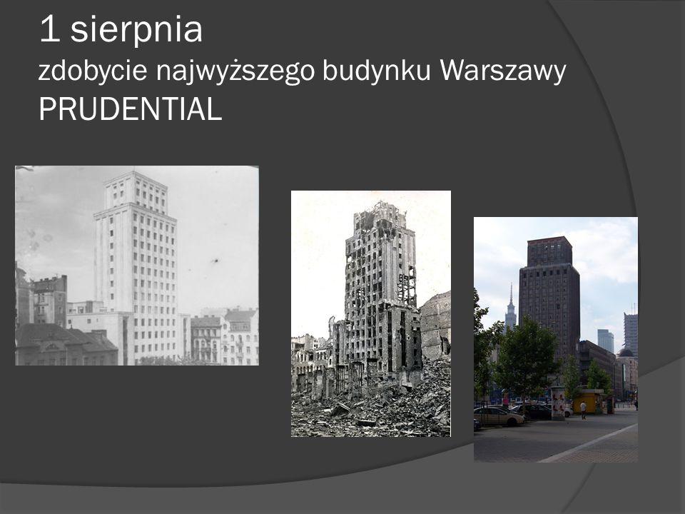1 sierpnia zdobycie najwyższego budynku Warszawy PRUDENTIAL