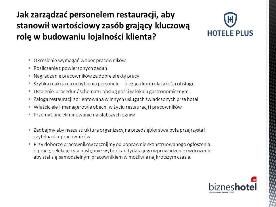 Jak zarządzać personelem restauracji, aby stanowił wartościowy zasób grający kluczową rolę w budowaniu lojalności klienta