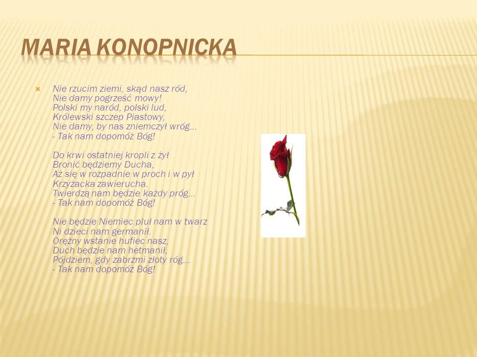 MARIA KONOPNICKA