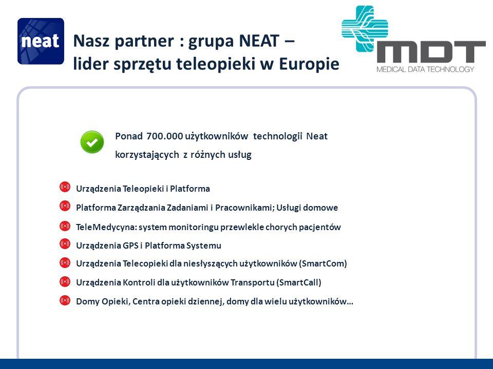 Nasz partner : grupa NEAT – lider sprzętu teleopieki w Europie