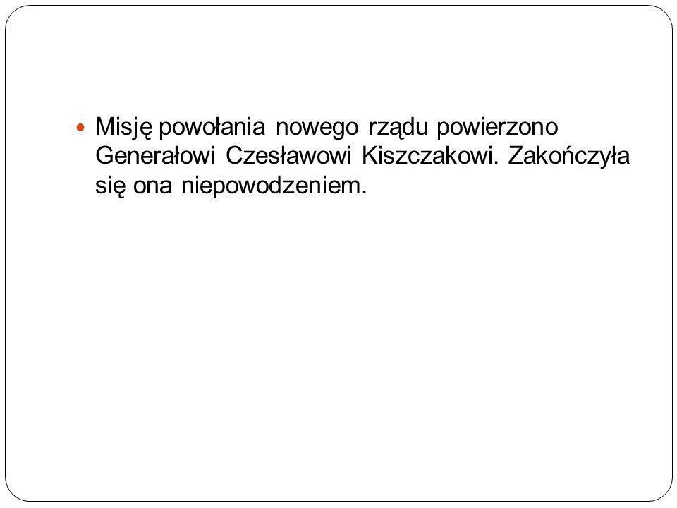 Misję powołania nowego rządu powierzono Generałowi Czesławowi Kiszczakowi.