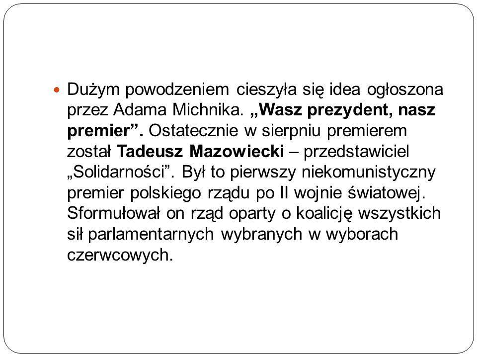 Dużym powodzeniem cieszyła się idea ogłoszona przez Adama Michnika