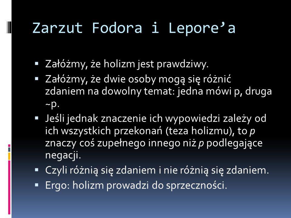 Zarzut Fodora i Lepore'a