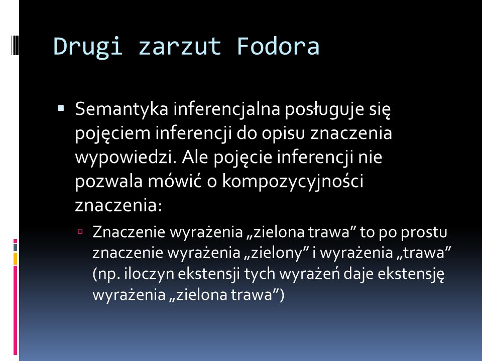 Drugi zarzut Fodora