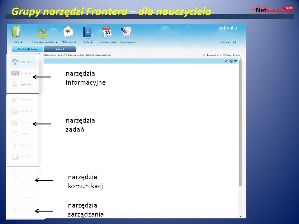 Grupy narzędzi Frontera – dla nauczyciela