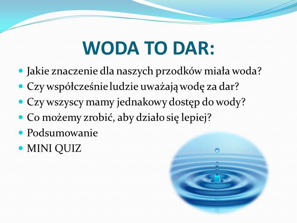 WODA TO DAR: Jakie znaczenie dla naszych przodków miała woda