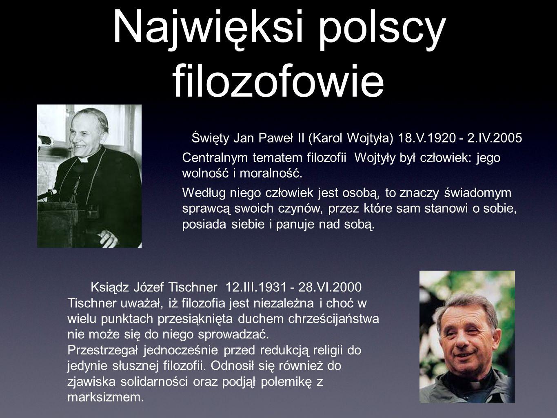 Najwięksi polscy filozofowie