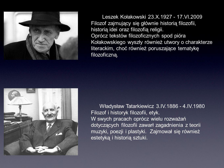 Leszek Kołakowski 23.X.1927 - 17.VI.2009