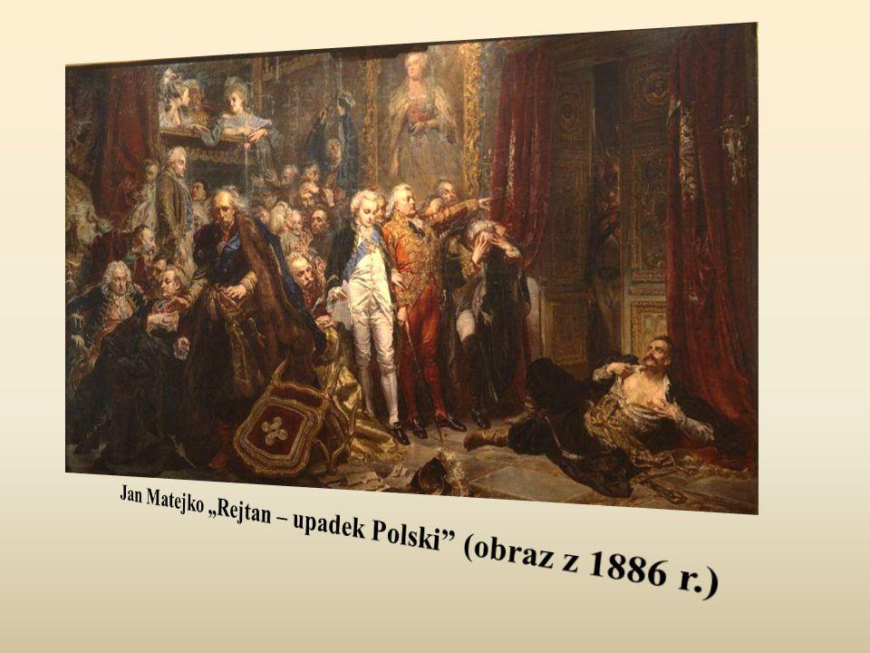 """Jan Matejko """"Rejtan – upadek Polski (obraz z 1886 r.)"""