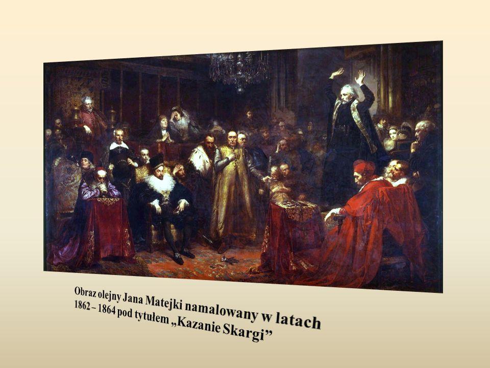 """Obraz olejny Jana Matejki namalowany w latach 1862 – 1864 pod tytułem """"Kazanie Skargi"""
