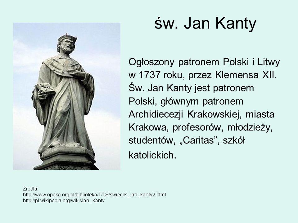 św. Jan Kanty Ogłoszony patronem Polski i Litwy