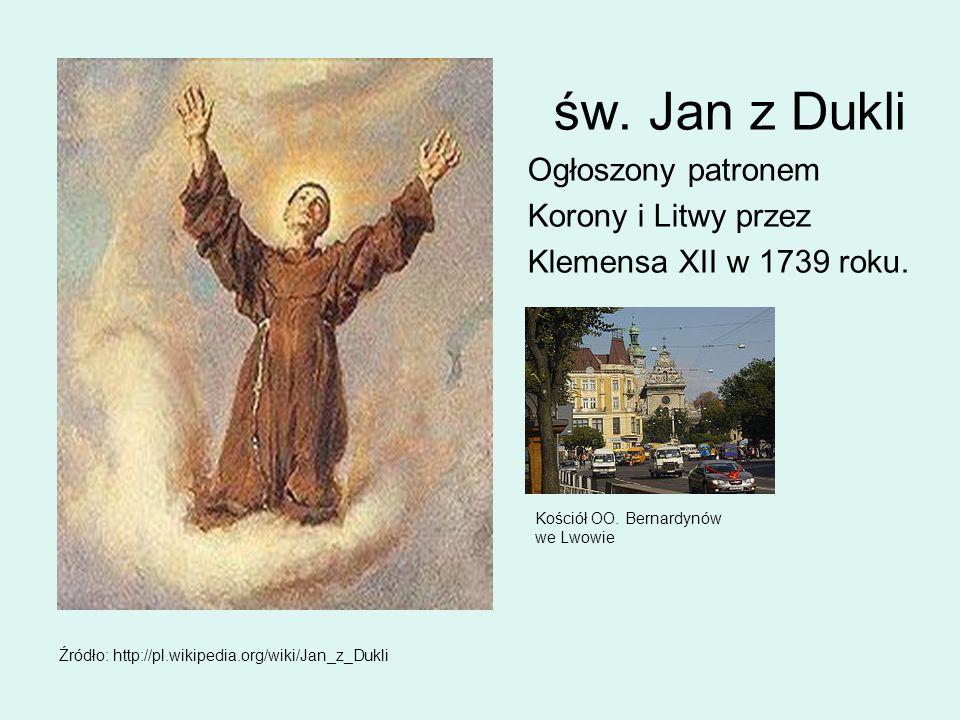 św. Jan z Dukli Ogłoszony patronem Korony i Litwy przez